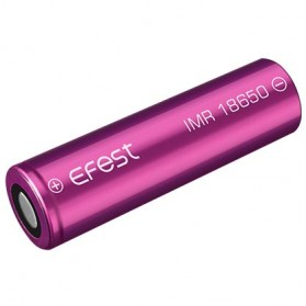 Efest Purple IMR 18650 Li-Mn Battery 1600mAh 3.7V 4A with Flat Top - Purple - 1