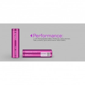 Efest Purple IMR 18650 Li-Mn Battery 1600mAh 3.7V 4A with Flat Top - Purple - 7