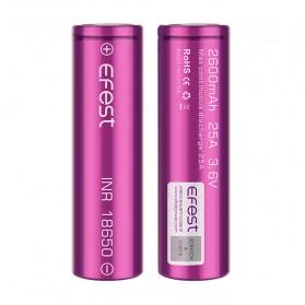 Efest Purple INR 18650 Li-Mn Battery 2600mAh 3.6V 25A with Flat Top - Purple - 2