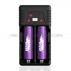 Efest BIO V2 Charger Baterai Dual Slot for 18650 / 18500 / 10440 - Black