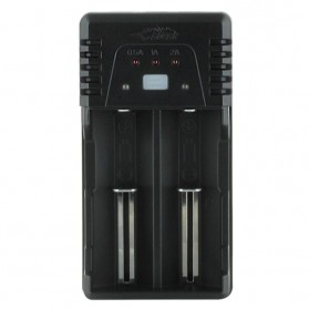 Efest BIO V2 Charger Baterai Dual Slot for 18650 / 18500 / 10440 - Black - 2