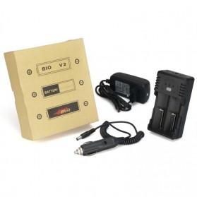 Efest BIO V2 Charger Baterai Dual Slot for 18650 / 18500 / 10440 - Black - 6