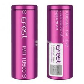 Efest Purple IMR 18500 Li-Mn Battery 1000mAh 3.7V 15A  with Flat Top - 18500P15V1 - Purple - 2
