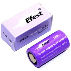 Efest IMR 18350 Li-Mn Battery 700mAh 3.7V 10.5A  with Flat Top - 18350P105V1 - Purple