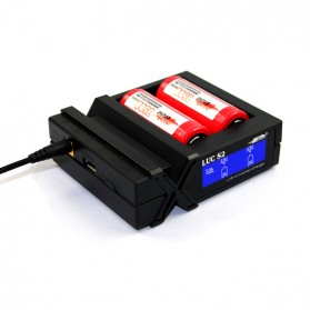 Efest LUC S2 Universal Dual Battery Charger with LCD - Black