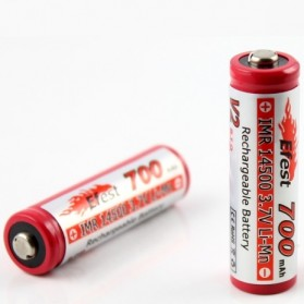 Efest IMR 14500 Li-Mn Battery 700mAh 3.7V with Button Top - 14500V2 - Red - 2