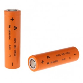 MNKE IMR18650 Li-Mn Battery 1500mAh 3.7V with Flat Top - Orange