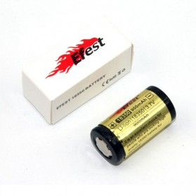 Efest 18350 Li-ion Protected Battery 900mAh with Flat Top - Black/Yellow