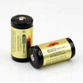 Efest 18350 Li-ion Unprotected Battery 900mAh with Button Top - Black/Yellow
