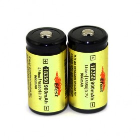 Efest 18350 Li-ion Protected Battery 900mAh with Button Top - Black/Yellow - 2