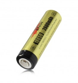 Efest 18650 Li-ion Unprotected Battery 2600mAh 3.7V with Flat Top - Black/Yellow - 2