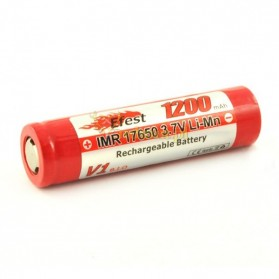 Efest IMR 17650 Li-Mn Battery 1200mAh 3.7V with Flat Top - 17650V1 - Red