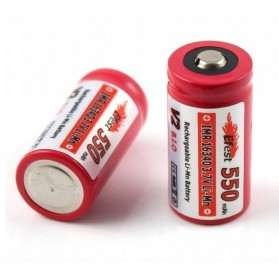 Efest IMR 16340 Li-Mn Battery 550mAh 3.7V with Button Top - 16340V2 - Red