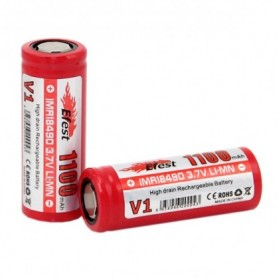 Efest IMR 18490 Li-Mn Battery 1100mAh 3.7V with Flat Top - 18490V1 - Red