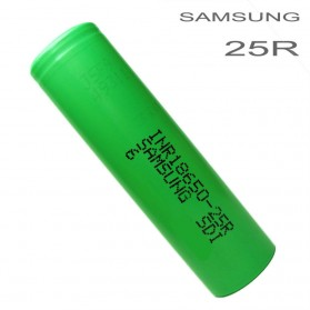 Samsung INR 18650-25R Li-ion Battery 2500mAh 3.6V with Flat Top - Green - 2