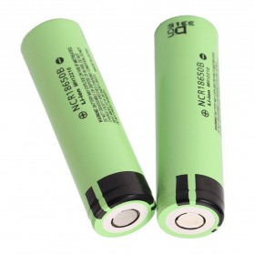 Panasonic NCR18650B Li-ion Battery 3400mAh 3.6V 30A with Flat Top - Green