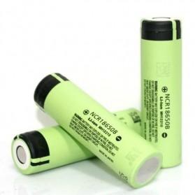 Panasonic NCR18650B Li-ion Battery 3400mAh 3.6V 30A with Flat Top - Green - 3