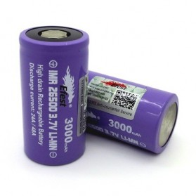 Efest Purple IMR 26500 Li-Mn Battery 3000mAh 3.7V 24A/48A with Flat Top - Purple