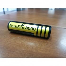 TrustFire 8000 18650 Li-ion Battery 2500mAh 3.7V - Black - 2