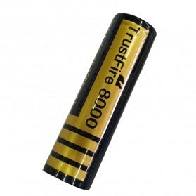 TrustFire 8000 18650 Li-ion Battery 2500mAh 3.7V - Black - 3