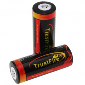 TrustFire Baterai Li-ion 26650 Protection Board 3500mAh 3.7V Button Top - Black