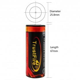 TrustFire Baterai Li-ion 26650 Protection Board 3500mAh 3.7V Button Top - Black - 3