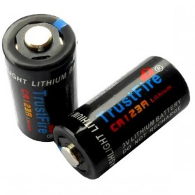 TrustFire CR123A Battery 1300mAh 3V - Black