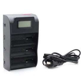 Trustfire 3 Slot Lithium Battery Charger NiMH with LCD - TR-008 - Black