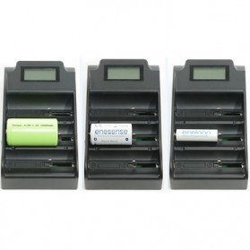 Trustfire 3 Slot Lithium Battery Charger NiMH with LCD - TR-008 - Black - 5