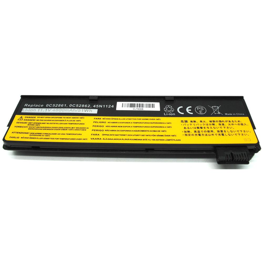 Baterai Lenovo ThinkPad T440 T450 T550 K2450 4600mAh - Black