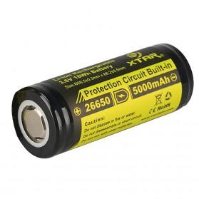 Xtar 26650 Baterai Li-ion 5000mAh 3.6V Flat Top - Black/Yellow
