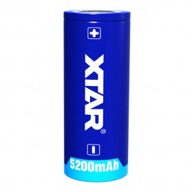 Xtar 26650 Baterai Li-ion 5200mAh 3.6V Button Top - Blue