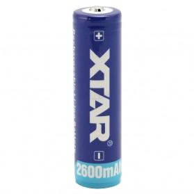 Xtar 18650 Baterai Li-ion 2600mAh 3.7V - Blue