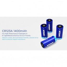 Xtar CR123A Baterai Li-ion 1400mAh 3V - Blue - 3