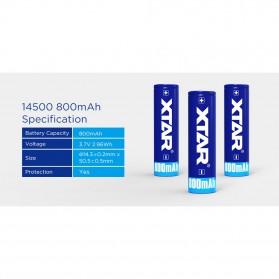 Xtar 14500 Baterai Li-ion 800mAh 3.7V - Blue - 3