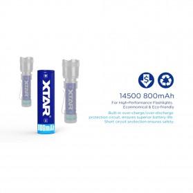 Xtar 14500 Baterai Li-ion 800mAh 3.7V - Blue - 4