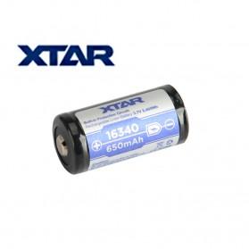 Xtar 16340 Baterai Li-ion 650mAh 3.7V - Blue