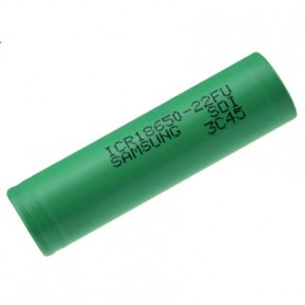 Samsung ICR18650-22FU Lithium Ion Battery 3.7V 2200mAh (14 Days) - Green