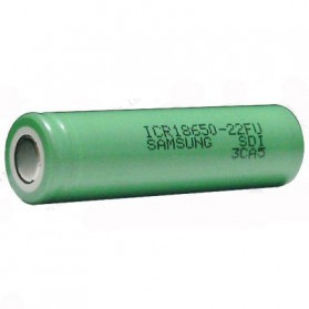 Samsung ICR18650-22FU Lithium Ion Battery 3.7V 2200mAh (14 Days) - Green - 2