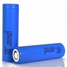 Samsung 20S 18650 Baterai Li-ion 30A 2000mAh 3.7V Flat Top - Blue - 1
