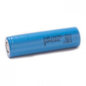 Samsung 20S 18650 Baterai Li-ion 30A 2000mAh 3.7V Flat Top - Blue - 2