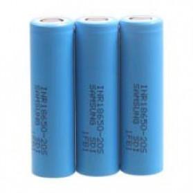Samsung 20S 18650 Baterai Li-ion 30A 2000mAh 3.7V Flat Top - Blue - 3