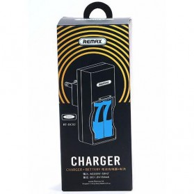 Remax 2 Slot Battery Charger with Battery No 7 - RT-DC02 - White - 8