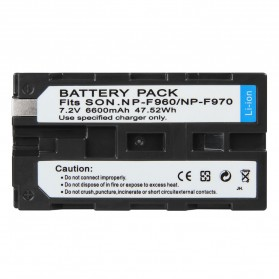 Baterai Kamera Sony NP-F960 NP-F970 - Black - 3