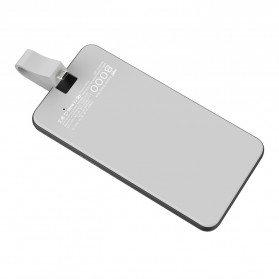 Hame Power Bank 8000mAh Built-in Micro USB QC3 Cable - P1-QC3 - White - 4