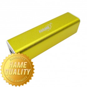 Hame Power Bank 2600mAh Model HAME-MP3 for Smartphone ( MP3 ) - Golden