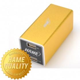 Hame Power Bank 8800mAh Dual USB Output Model HAME-MP11 ( MP11 ) - Golden
