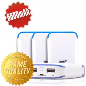 Hame Power Bank 6600mAh Dual USB Output Model HAME-ME13 ( ME13 ) - White