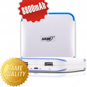 Hame Power Bank 8800mAh Dual USB Output Model HAME-ME14 ( ME14 ) - White