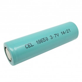 Hame Lithium Ion Cylindrical Battery 3.7V 2200mAh - HM-18650 - Tosca